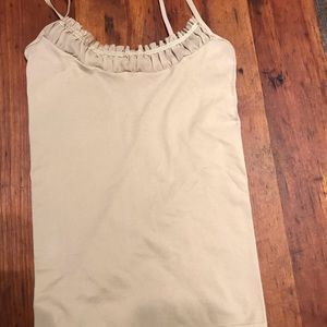 The limited tan/taupe Cami w/ lovely front detail